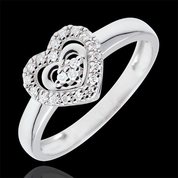 Ring Hart van Parijs - witgoud - 18 karaat goud