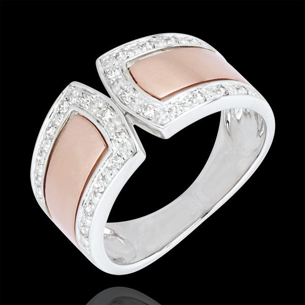 Ring Infinity - Imperial - 18 karaat witgoud en rozégoud met Diamanten