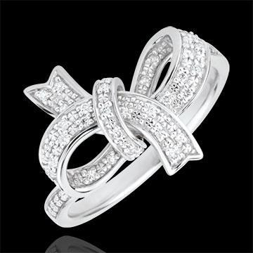 Precious Bow Ring - Silver and diamonds