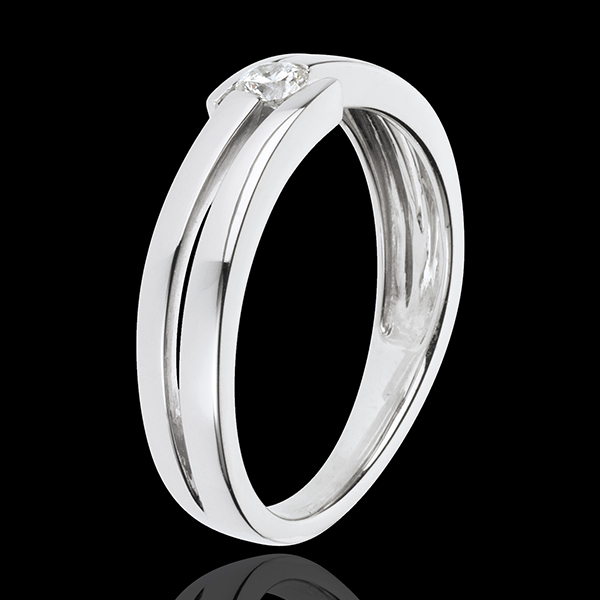 Ring Kostbarer Kokon - Salomé - Weißgold - 0. 11 Karat- 9 Karat