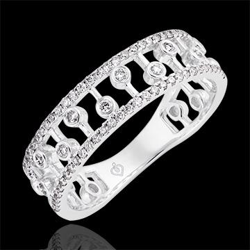 Ring Leven - Philippine - wit goud 9 karaat en diamanten