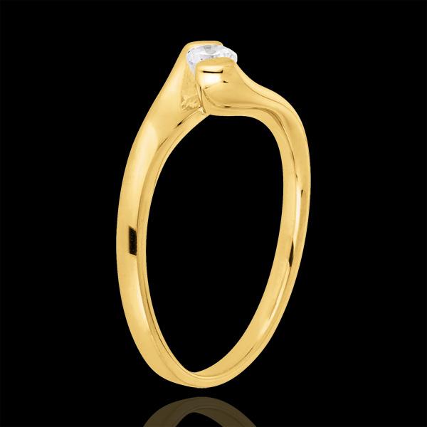 Ring Liefdesnest - Eeuwige Passie - 9 karaat geelgoud - 0.14 karaat