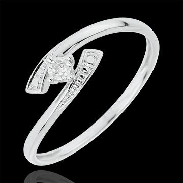 Ring Liefdesnest - Ja - 18 karaat witgoud