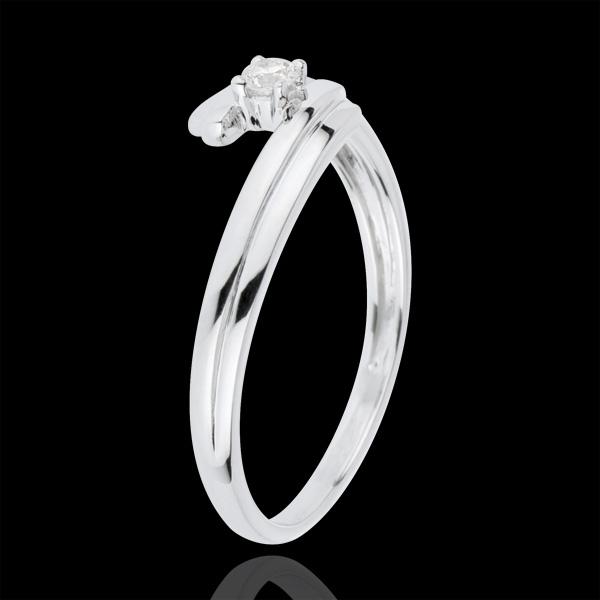 Ring Liefdesnest - Liefde voor altijd - 18 karaat witgoud