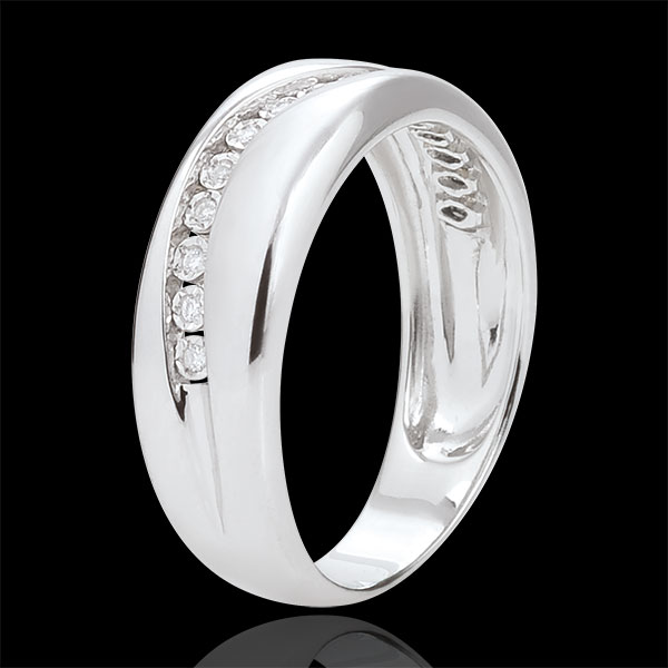 Ring Love - Multi-diamonds - white gold - 18 carat