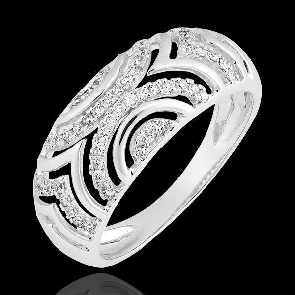 Ring Mona - wit goud 18 karaat en diamanten