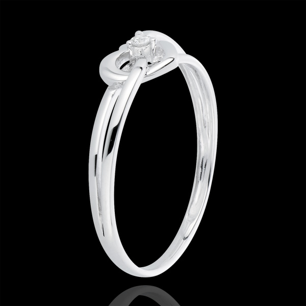 Ring My Love - white gold. diamonds
