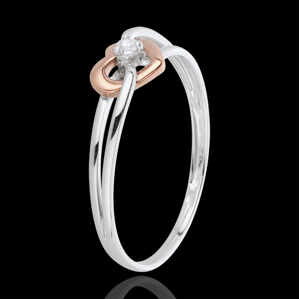 Ring My Love - white gold. rose gold and diamond