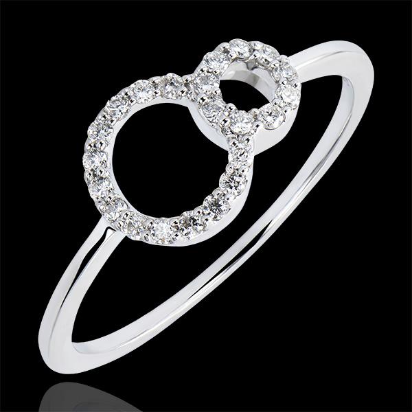 Ring Overvloed - Infinity - 18 karaat witgoud met diamanten