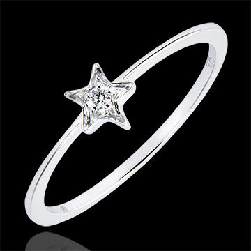 Ring Overvloed - Mijn Ster - 9 karaat witgoud met diamant