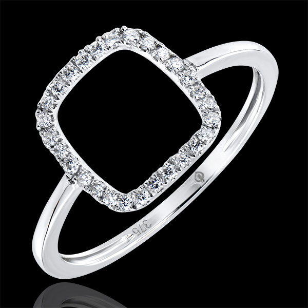 Ring Overvloed - Nude - 9 karaat witgoud met diamanten