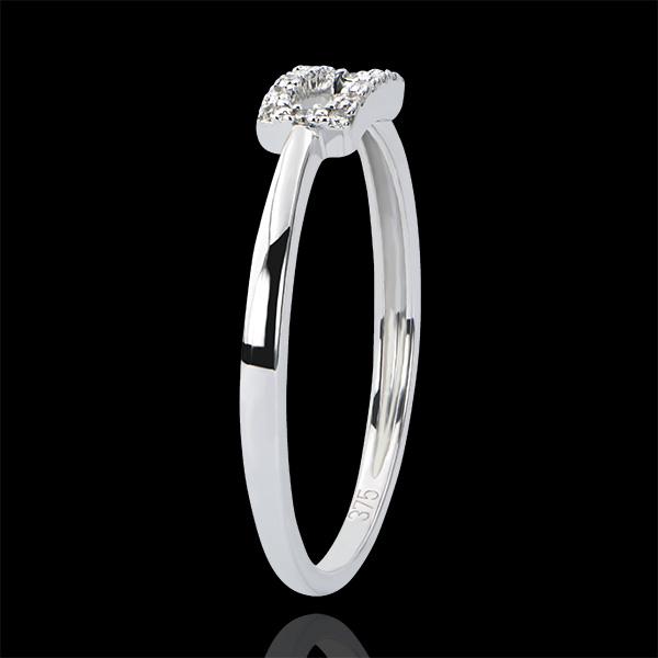 Ring Overvloed - Waarheid - 9 karaat witgoud met diamanten