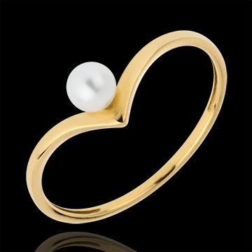 Ring Pearl Olga - Yellow gold