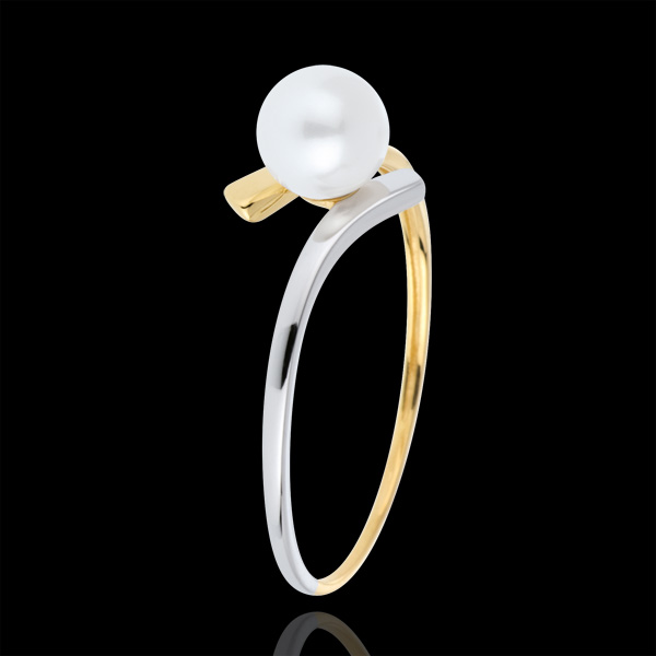 Ring Pearl Olympia - Two golds