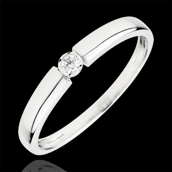 Ring Pill - 0.04 karaat Diamant - 18 karaat witgoud