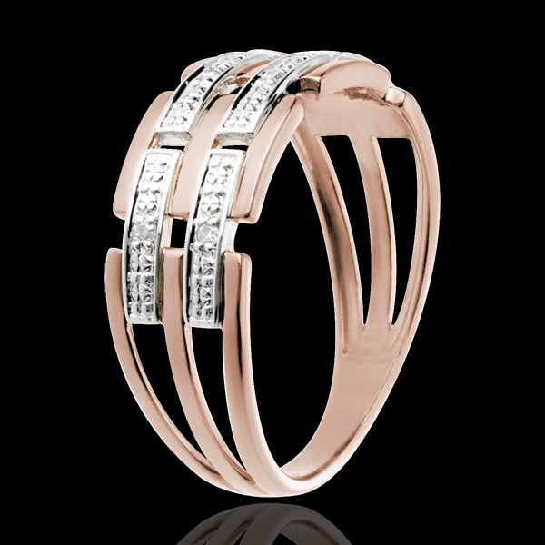 Ring - Pink gold and diamonds