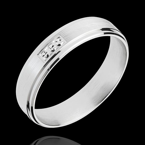 Ring Pons 18 karaat witgoud