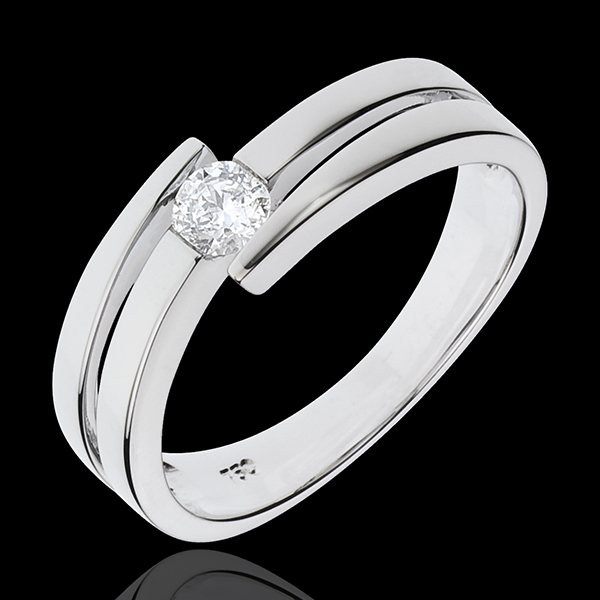 Ring Precious Nest - Salome - white gold - 18 carats