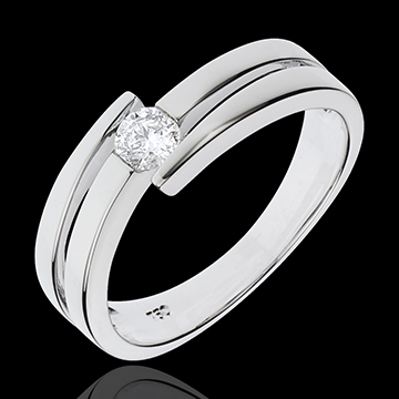 Ring Precious Nest - Salome - white gold - 18 carats