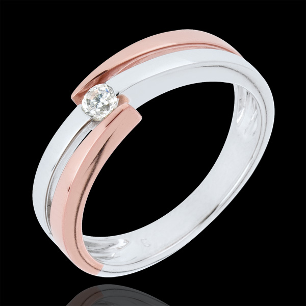 Ring Precious Nest - Solitaire Rings - 0.1 carat - 18 carat gold
