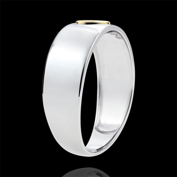 Ring Precious Secret - Heart - yellow gold, white gold