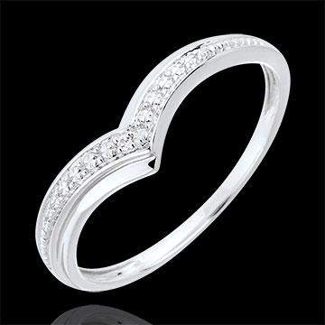 Ring Precious Wings 9 karaat witgoud