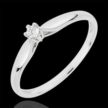 Ring Riet 6 Diamanten pootjes - 18 karaat witgoud