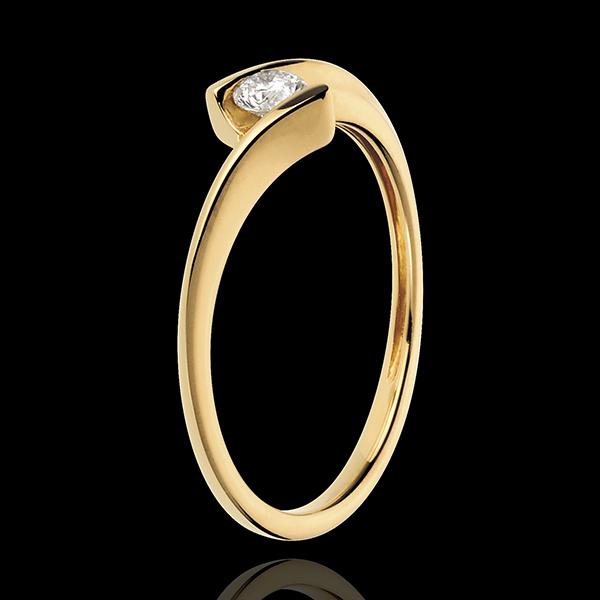 Ring Ring Solitaire Liefdesnest - Afrodite - 18 karaat geelgoud - Diamant 0.13 karaat - 18 karaat