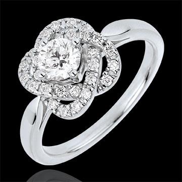 Ring Rose van Karaat - 18 karaat witgoud