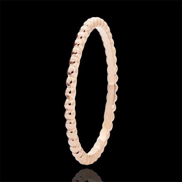 Ring Salty Flower - rose gold - 18 carat