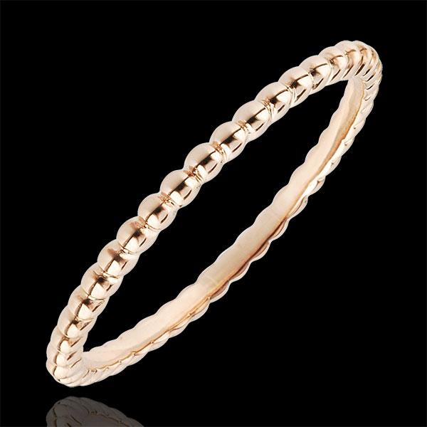 Ring Salty Flower - rose gold - 9 carat