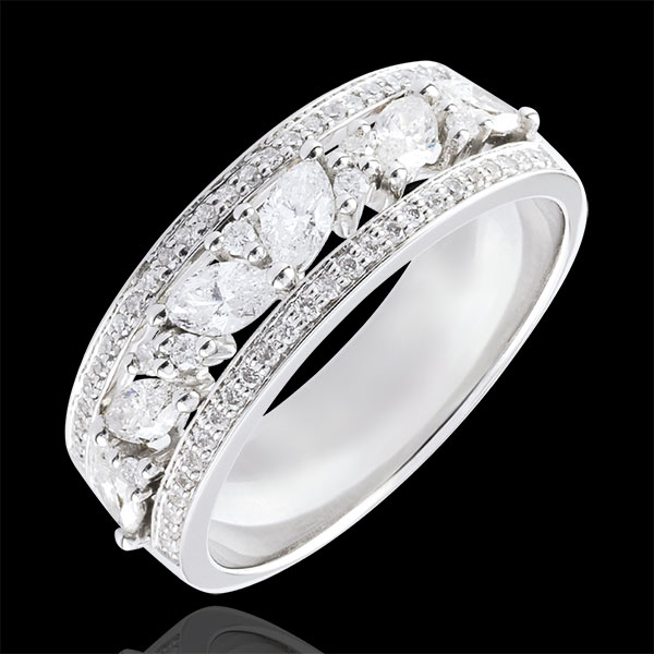 Ring Schicksal - Byzantine - Weißgold und Diamanten - 18 Karat