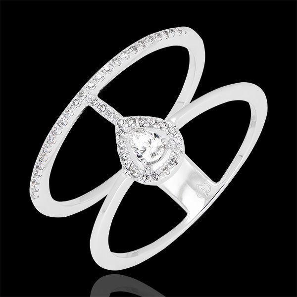 Ring Seraphine - wit goud 18 karaat en diamanten