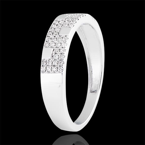 Ring Silencio - 375er Weißgold und Diamanten