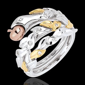 Ring Denkbeeldige Balade - Verboden Vrucht - Drie goudkleuren