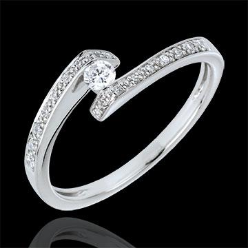 Ring Solitair Nid Précieux - Promise - Wit Goud - 0.08 karaat Diamant