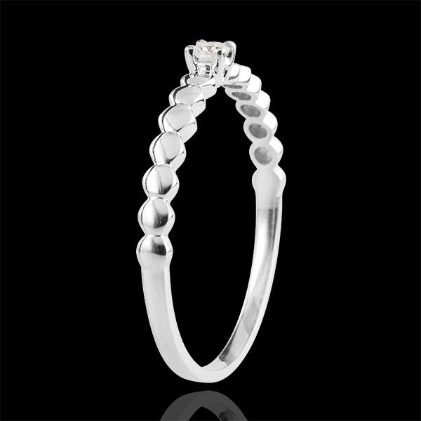 Ring Solitaire 9 karaat witgouden Bonbons - 0.05 karaat