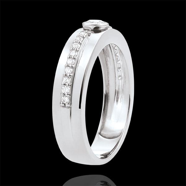 Ring Solitaire Belofte - 18 karaat witgoud met Diamanten