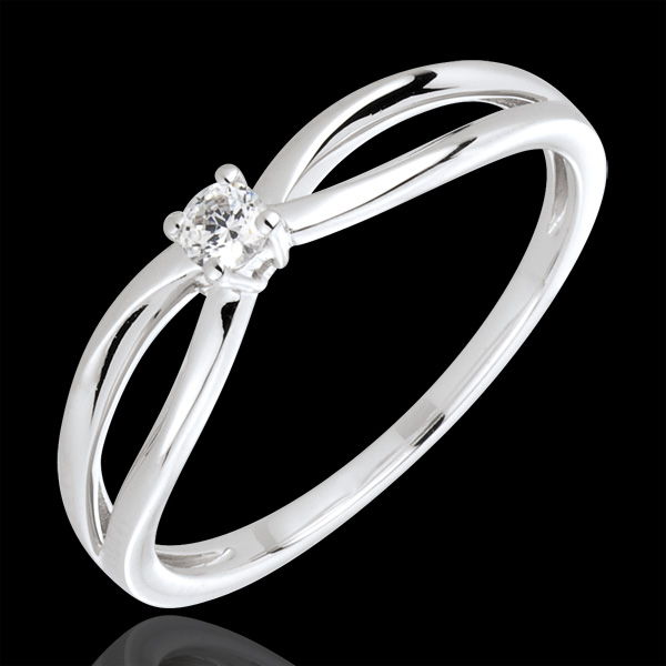 Ring Solitaire Ella - 18 karaat witgoud met diamant
