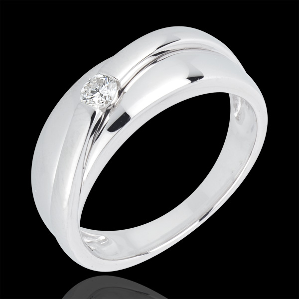 Ring Solitaire Hestia - 18 karaat witgoud met diamant