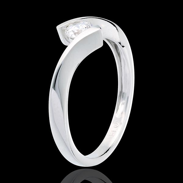 Ring Solitaire Liefdesnest - Apostrophe - 18 karaat witgoud - 0.25 karaat - 18 karaat