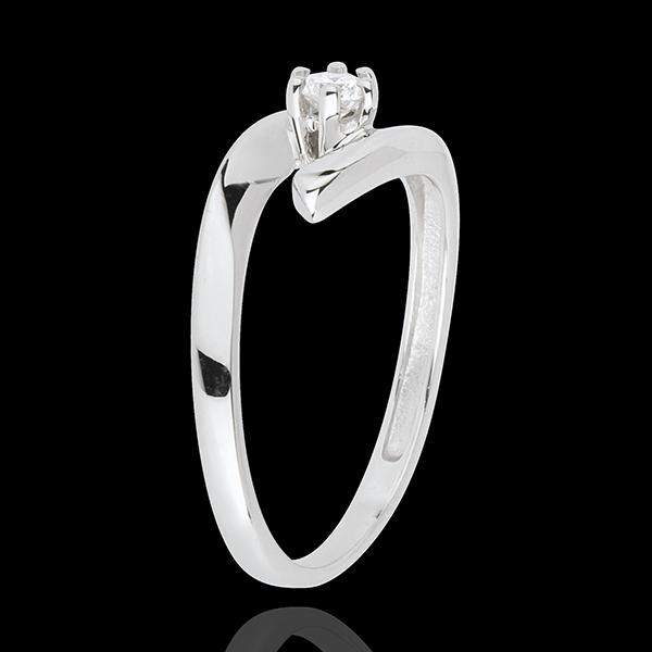 Ring Solitaire Liefdesnest - Orion - 18 karaat witgoud