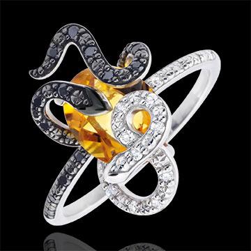 Ring Spaziergang der Sinne - Gorgonia - Silber, Diamanten und Halbedelsteine