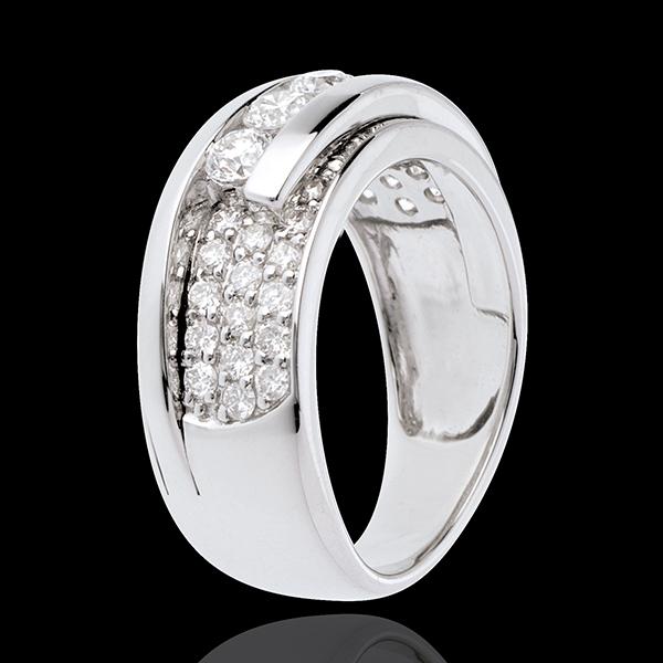 Ring Sternbilder - Variierte Trilogie Pavage - 0.86 Karat - 35 Diamanten