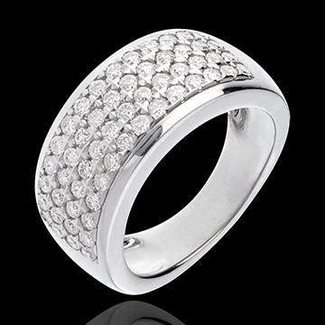 Ring Sterrenbeeld - Astraal - groot model - 18 karaat witgoud - 1,01 karaat - 56 Diamanten