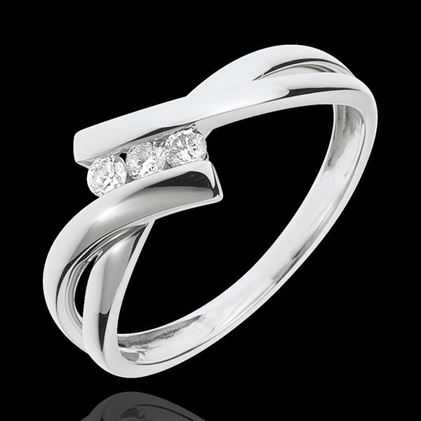 Ring Trilogie Liefdesnest - 18 karaat witgoud - 3 Diamanten