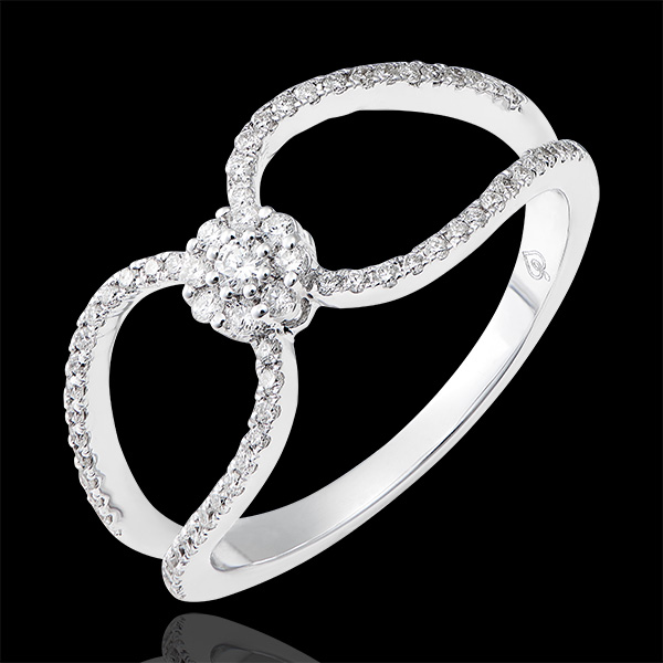 Ring Valentine - wit goud 9 karaat en diamanten