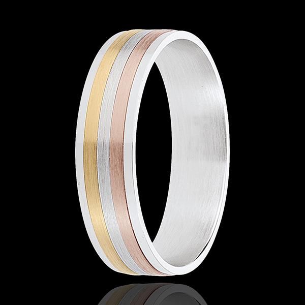 Ring veter 3 Goudsoorten - 18 karaat goud