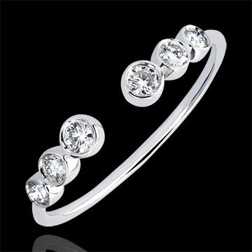 Ring Vielfalt - Erwartung - 18 Karat Weißgold und Diamanten