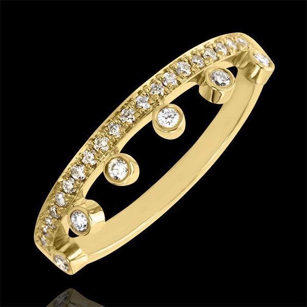 Ring Vielfalt - Majestät - 18 Karat Gelbgold und Diamanten